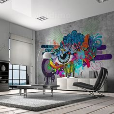 Graffiti Wallpaper For Bedrooms parts can add a touch of favor and design to any house. Graffiti Wallpaper For Bedrooms can imply many issues to many people… Graffiti Art, Graffiti Wallpaper, Wallpaper Murals, Mural Wall Art, Photo Wallpaper, Bedroom Wall, Teen Bedroom, Bedrooms, Wall Design