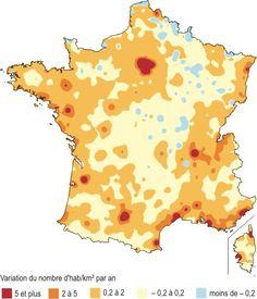 Carte 3 - Variation annuelle de la densité de population entre 1999 et 2006