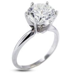 Amazon.com: 5.63 CT Ideal Cut Round J-VS2 EGL Cert Diamond 14k Gold Classic Solitaire Engagement Ring 3.20gr: Diamond Traces: Jewelry