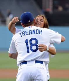 Misty May-Treanor, most successful beach volleyball player with three Olympic Gold medals and Husband Matt Treanor who has been a pro baseball player since 2004 and is currently plays for the L.A. Dodgers.