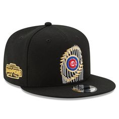 cc5a8850166 Chicago Cubs New Era 2016 World Series Champions Trophy 9FIFTY Snapback  Adjustable Hat - Black