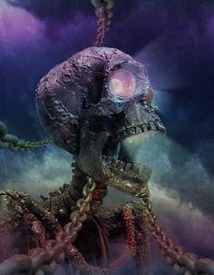 Skeleton, inspiration perso, suite à des tutos