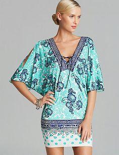 NANETTE LEPORE Batiki Print Cover Up Tunic