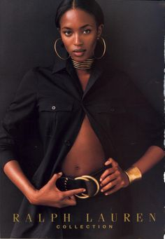 ☆ Naomi Campbell   For Ralph Lauren Campaign   Spring 1997 ☆