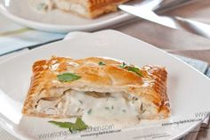 Creamy Chicken Pie Recipe - How to Make a Puff Pastry Chicken Pie with Bechamel filling | MongolianKitchen.com