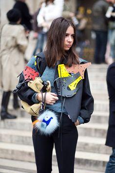 Natasha Goldberg with Fendi bag - HarpersBAZAAR.com