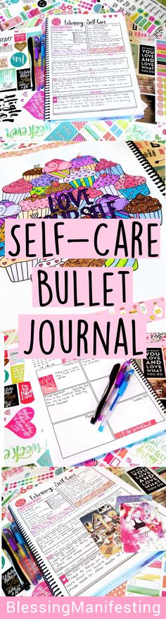 Inside my self-love workbook for February and how it's helping me cope through some difficult times. #bujo #selfcare #selflove #bulletjournaling
