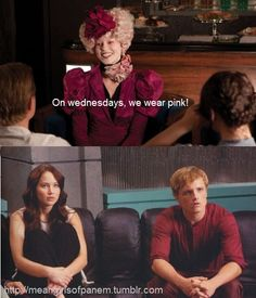 hahahaha mean girls of Panem