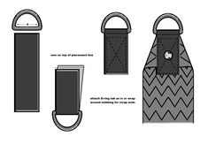 How to make D-ring tabs, and other handbag embellishment techniques. Source: Bag n'Telle