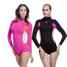 Neoprene 2MM Snorkeling Winter Women Wetsuits Diving Suits One Pieces Rash Guards Swimming BO