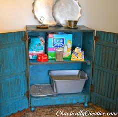 """This Creative Primitive Cat Center fits into décor and gives Kitties a place """"to go"""".  Good idea"""