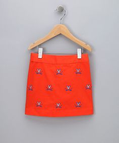 Take a look at this Orange Virginia Skirt - Girls by Pennington & Bailes on #zulily today!