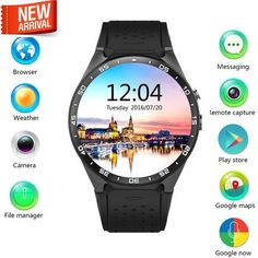 4f006c3aa New Lemfo KW88 Android 5.1 OS Smart Watch Phone 400*400 Screen Quadcore  Smartwatch House