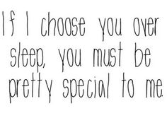 Your special to me.