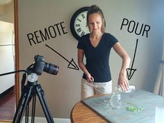 Food Photography: 10 Tips for the Pour Shot! #7: Set up a tripod.| pinchofyum.com