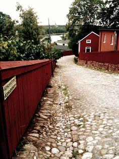 Downhill in Porvoo, Finland