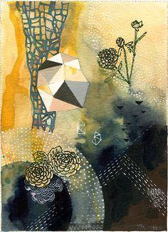 Blüte / / 8.5 x 11 Öko-abstrakte Wandkunst drucken