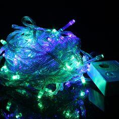 Outdoor LED String Lights Christmas 10m 110V 220V LED Lighting Lamp Bulb Colorful Holiday Wedding New Year Decor LED String Lamp #Affiliate