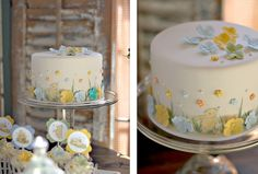 The Couture Cakery - Baby Shower cake, cupcakes and dessert table
