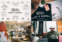 Keel Surf & Supply by Chaptr Brand Identity Design, Logo Design, Graphic Design, Wilderness Society, Creative Inspiration, Design Inspiration, Hull City, Web News, Overland Park