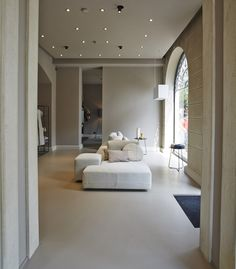 #sofa #livingroom #design  #milan #ditreitalia #flagship #white