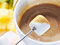 Cappuccino-white chocolate fondue