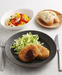 洋食・中華おかずの基本:6月のメニュー    ベターホームのお料理教室 ・黒いお皿