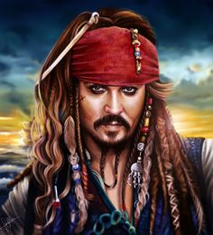 A Drawing Of Johnny Depp As Captain Jack Sparrow 💀💀 Jack Sparrow Drawing, Jack Sparrow Tattoos, Sparrow Art, Captain Jack Sparrow, Jack Sparrow Wallpaper, Jonny Deep, Johnny Depp Movies, Diamond Paint, Cross Paintings