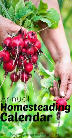 Free Resource Annual Homesteading Calendar