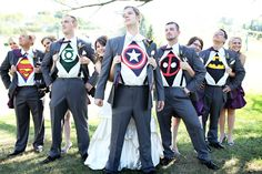 I would not be surprised if he wanted to do this... He would definitely be Captain America, but how would his groomsmen would choose who got to be Batman?