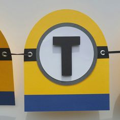 Minions birthday banner/ Despicable me by Cre8iveDesignss on Etsy