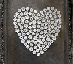 Heart of Vintage Buttons I LOVE button art, especially  sparkled ones!!