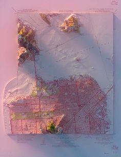 3D Map Artwork by Scott Reinhard - Paranoias