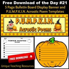 Templates For Halloween http://www.uniqueteachingresources.com/Free ...