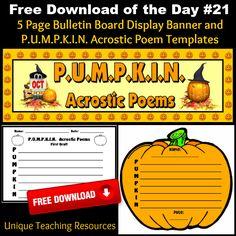 Templates For Halloween http://www.uniqueteachingresources.com/Free ...