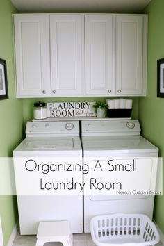 Organizing A Small Laundry Room - If you have a small laundry room, organization is key to making it more functional. These tips and tricks will help you make the most of your small space, which makes this a popular pin!