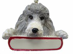 Poodle Ornament Silver 'Santa's Pals' With Personalized Name Plate A Great Gift For Poodle Lovers >>> Check this awesome image  : Dog Memorials