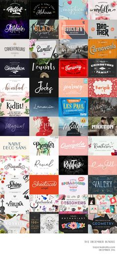 Over 48 different product packs including over 70 beautiful fonts and some stunning graphics collections! Great for your diy projects, blog, website and even your gift tags these Holidays! Grab this gorgeous collection at 96% OFF RRP, before its expires at the end of December 2016. A huge saving of $684. The December Design Bundle by TheHungryJPEG   TheHungryJPEG.com