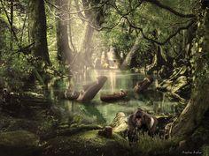 Forest Adventurer by ksilas on DeviantArt Adventurer, Photo Manipulation, Graphics, Deviantart, Digital, Painting, Graphic Design, Painting Art, Paintings