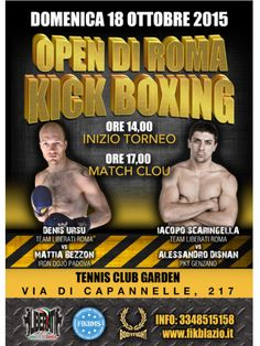 Open di Roma - 18 ottobre