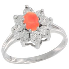 Visit our link to view and buy an amazing new designs of Sterling Silver Jewelry-Diamond Gemstone Rings-Coral with affordable price.