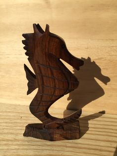 A personal favorite from my Etsy shop https://www.etsy.com/listing/488595576/ironwood-seahorse-carving
