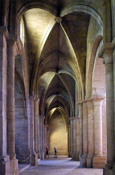 Santa Maria de Poblet, Tarragona, Catalonia.  Miss Zinnia sang here one afternoon!