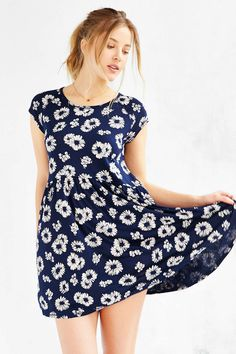 Cooperative Midnight Knit Babydoll Dress - Urban Outfitters