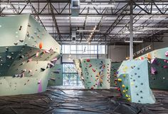 in texas, a facility named the austin bouldering project has opened its doors to the public after two years of construction.
