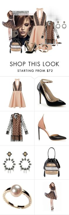 """""""Nude/black"""" by kloeyblue ❤ liked on Polyvore featuring Givenchy, Miss Selfridge, N°21, Francesco Russo, DANNIJO, Loeffler Randall and Terani"""
