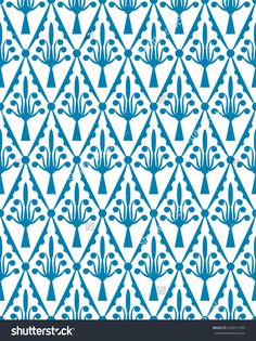 Pattern blue with white.