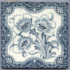 Antique Victorian Majolica Aesthetic Style - Ceramic Tile