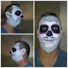 was not completely finished but this was my attempt on dia de los muetos makeup