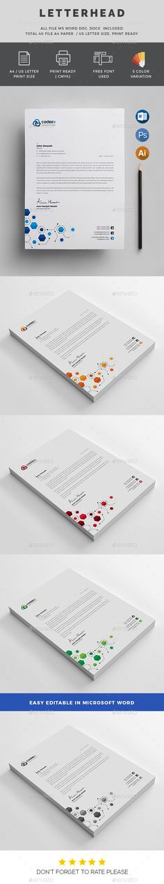 Letterhead Letterhead, Professional letterhead and Letterhead design - letterhead samples word